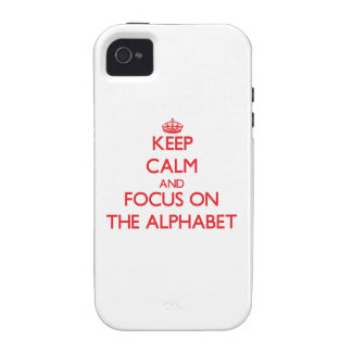 Keep calm and focus on THE ALPHABET iPhone 4/4S Cover