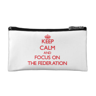 Keep Calm and focus on The Federation Makeup Bags