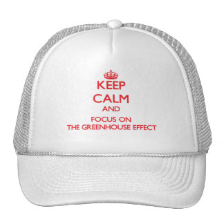 Keep Calm and focus on The Greenhouse Effect Trucker Hat