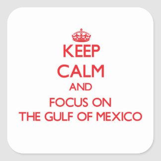 Keep Calm and focus on The Gulf Of Mexico Square Sticker