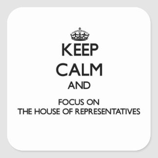 Keep Calm and focus on The House Of Representative Square Sticker