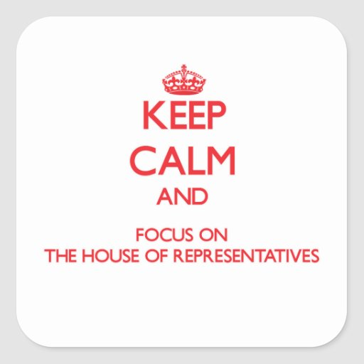 Keep Calm and focus on The House Of Representative Sticker