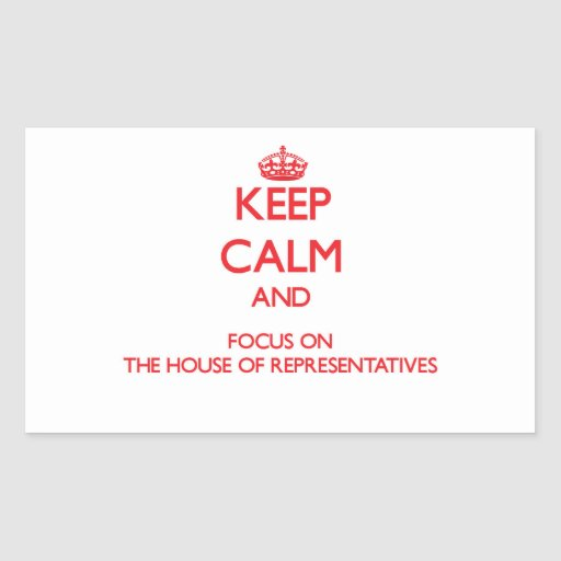 Keep Calm and focus on The House Of Representative Rectangle Stickers