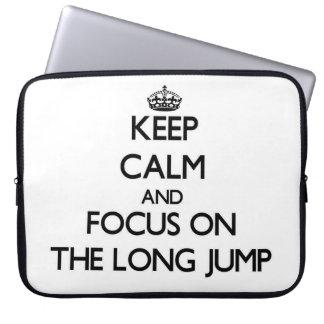 Keep Calm and focus on The Long Jump Computer Sleeve