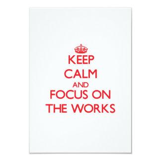 Keep Calm and focus on The Works 9 Cm X 13 Cm Invitation Card