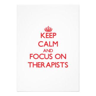 Keep Calm and focus on Therapists Custom Invite