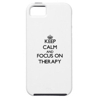 Keep Calm and focus on Therapy iPhone 5 Cover