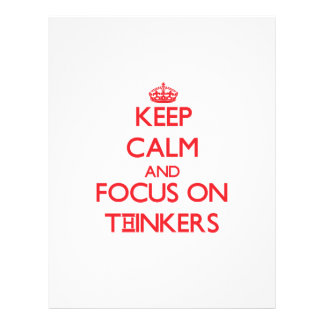 Keep Calm and focus on Thinkers Full Color Flyer
