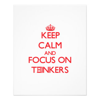 Keep Calm and focus on Thinkers Flyer