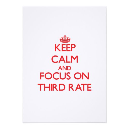 Keep Calm and focus on Third-Rate Custom Invite