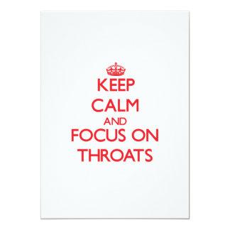 Keep Calm and focus on Throats 13 Cm X 18 Cm Invitation Card