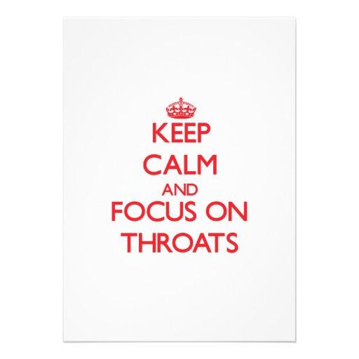 Keep Calm and focus on Throats Custom Announcements