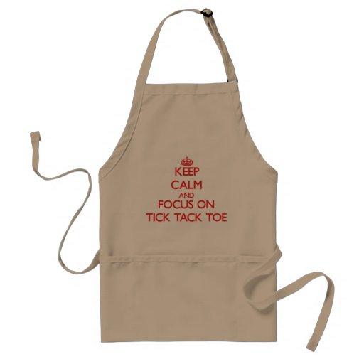 Keep Calm and focus on Tick-Tack-Toe Apron