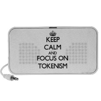 Keep Calm and focus on Tokenism iPhone Speaker