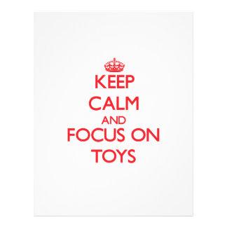 Keep Calm and focus on Toys 21.5 Cm X 28 Cm Flyer