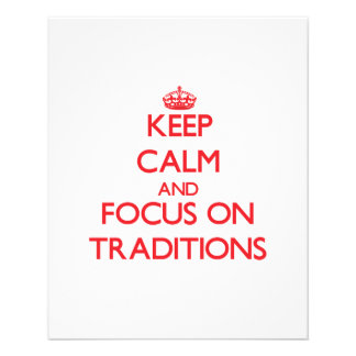 Keep Calm and focus on Traditions Personalized Flyer