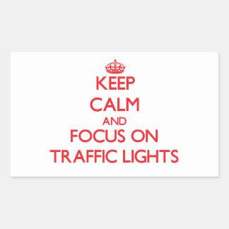 Keep Calm and focus on Traffic Lights Rectangular Sticker