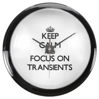 Keep Calm and focus on Transients Aqua Clock