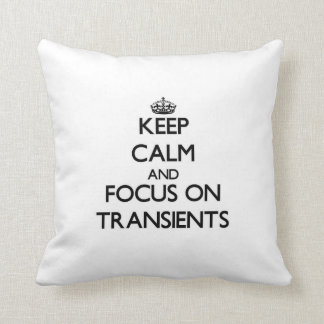 Keep Calm and focus on Transients Throw Pillow