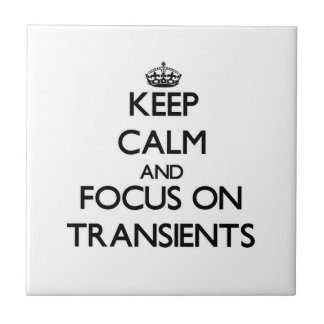 Keep Calm and focus on Transients Ceramic Tiles