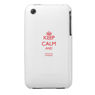 Keep calm and focus on TRAVELING Case-Mate iPhone 3 Case