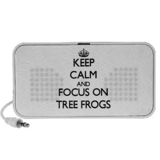 Keep calm and focus on Tree Frogs Travel Speaker