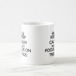 Keep Calm and focus on Trios Basic White Mug
