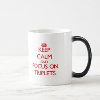 Keep Calm and focus on Triplets 11 Oz Magic Heat Color-Changing Coffee Mug