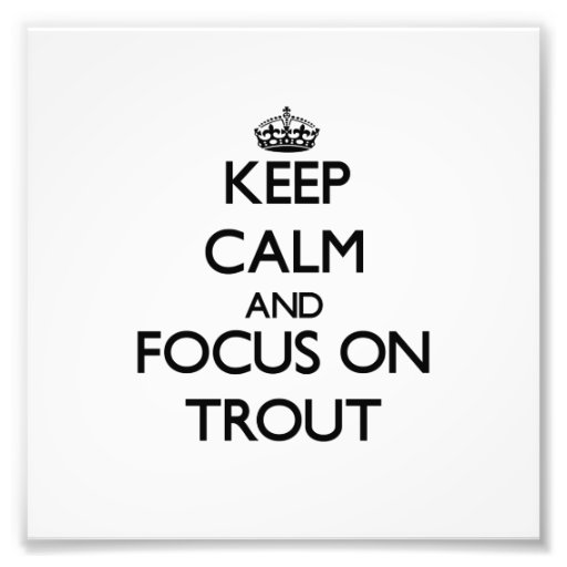 Keep calm and focus on Trout Art Photo