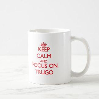 Keep calm and focus on Trugo Basic White Mug