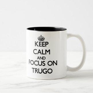 Keep calm and focus on Trugo Two-Tone Mug