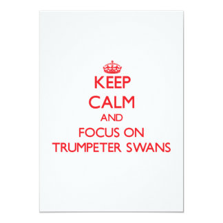 Keep calm and focus on Trumpeter Swans Card