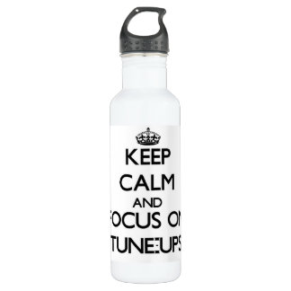 Keep Calm and focus on Tune-Ups 710 Ml Water Bottle