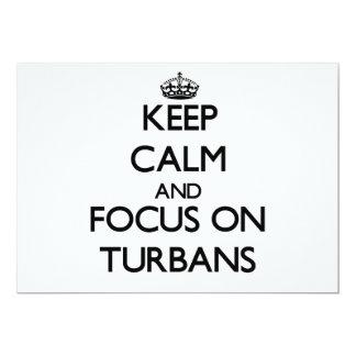 Keep Calm and focus on Turbans 13 Cm X 18 Cm Invitation Card