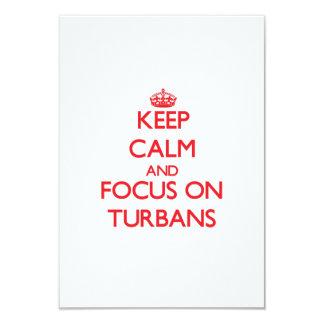 Keep Calm and focus on Turbans 9 Cm X 13 Cm Invitation Card