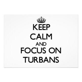Keep Calm and focus on Turbans Invite