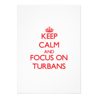 Keep Calm and focus on Turbans Personalized Announcements