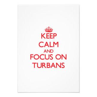 Keep Calm and focus on Turbans Custom Invite
