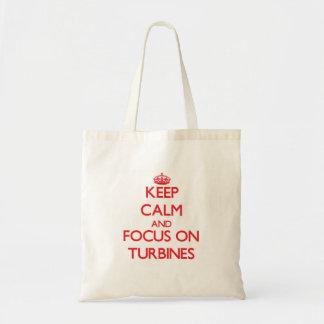 Keep Calm and focus on Turbines Bag