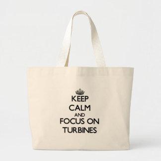 Keep Calm and focus on Turbines Canvas Bag