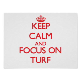Keep Calm and focus on Turf Posters