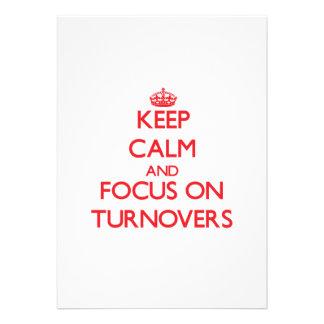 Keep Calm and focus on Turnovers Invitation