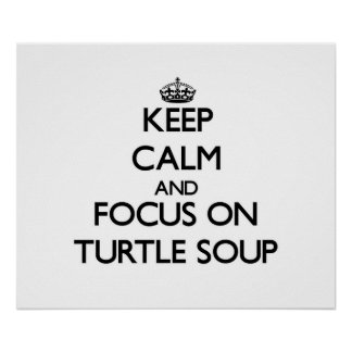Keep Calm and focus on Turtle Soup Poster
