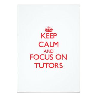 Keep Calm and focus on Tutors 5x7 Paper Invitation Card