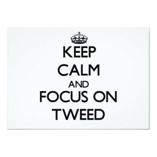 "Keep Calm and focus on Tweed 5"" X 7"" Invitation Card"