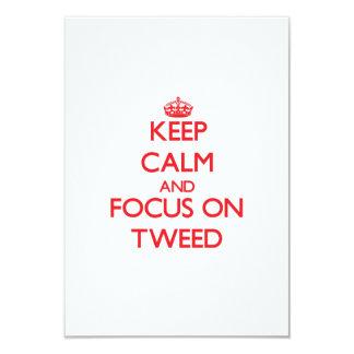 Keep Calm and focus on Tweed Custom Invitation