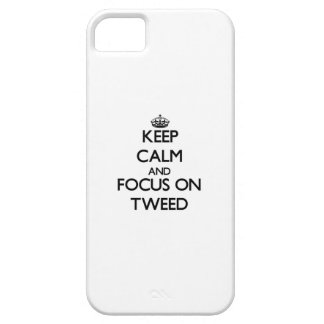 Keep Calm and focus on Tweed iPhone 5/5S Cases