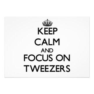 Keep Calm and focus on Tweezers Custom Invitation