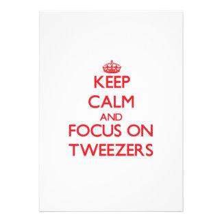 Keep Calm and focus on Tweezers Custom Invitations