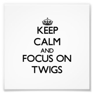 Keep Calm and focus on Twigs Photo Art